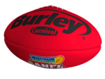 Burley Carnival Red Synthetic Football