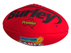Burley Premier Red Leather Football