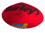 Burley Club Red Leather Football