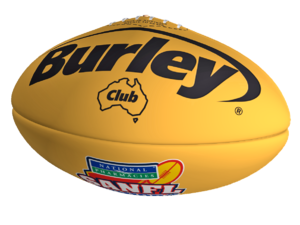 Burley Club Yellow Leather Football